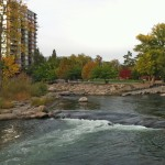 Truckee River white water park at Wingfield Park in Reno