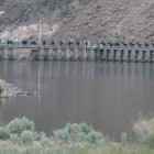 The Derby Dam diverts Truckee River water from its natural course which goes to Pyramid Lake. Instead water flows into the Truckee Canal to the Carson River.