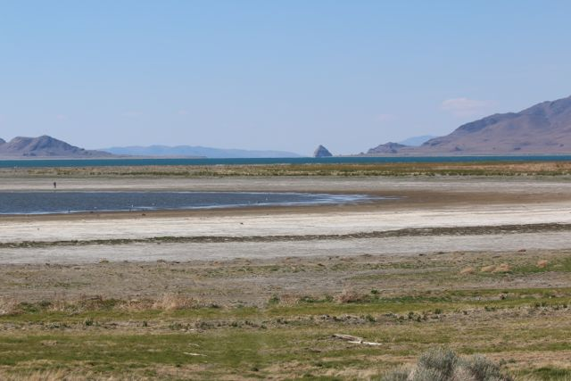 April 2014 Pyramid Lake view to Anaho Island from south shore.