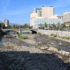 Truckee River at the Plaza in downtown river in August 2014