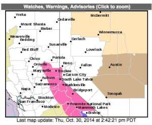 Official Map from US Weather Service 10-30-2014
