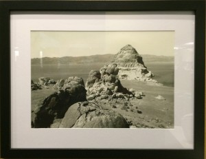 Reflections on Pyramid Lake Exhibit at UNR Knowledge Center: Pyramid Lake's Pyramid in 1967