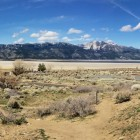 Washoe Lake nearly dry in March 2015. Washoe Lake is in the Truckee River watershed.