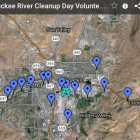 KTMB Truckee River Cleanup Sites for September 26 event.