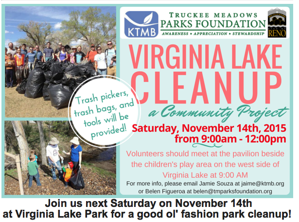KTMB Virginia Lake Cleanup Nov 2015