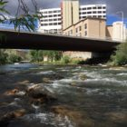 Truckee River at 2nd Street in downtown Reno in June.